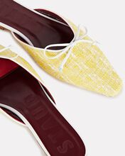 Gina Tweed Mule Flats, YELLOW, hi-res