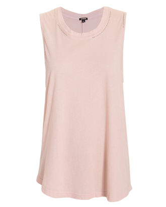 Studded Muscle Tank, PINK, hi-res