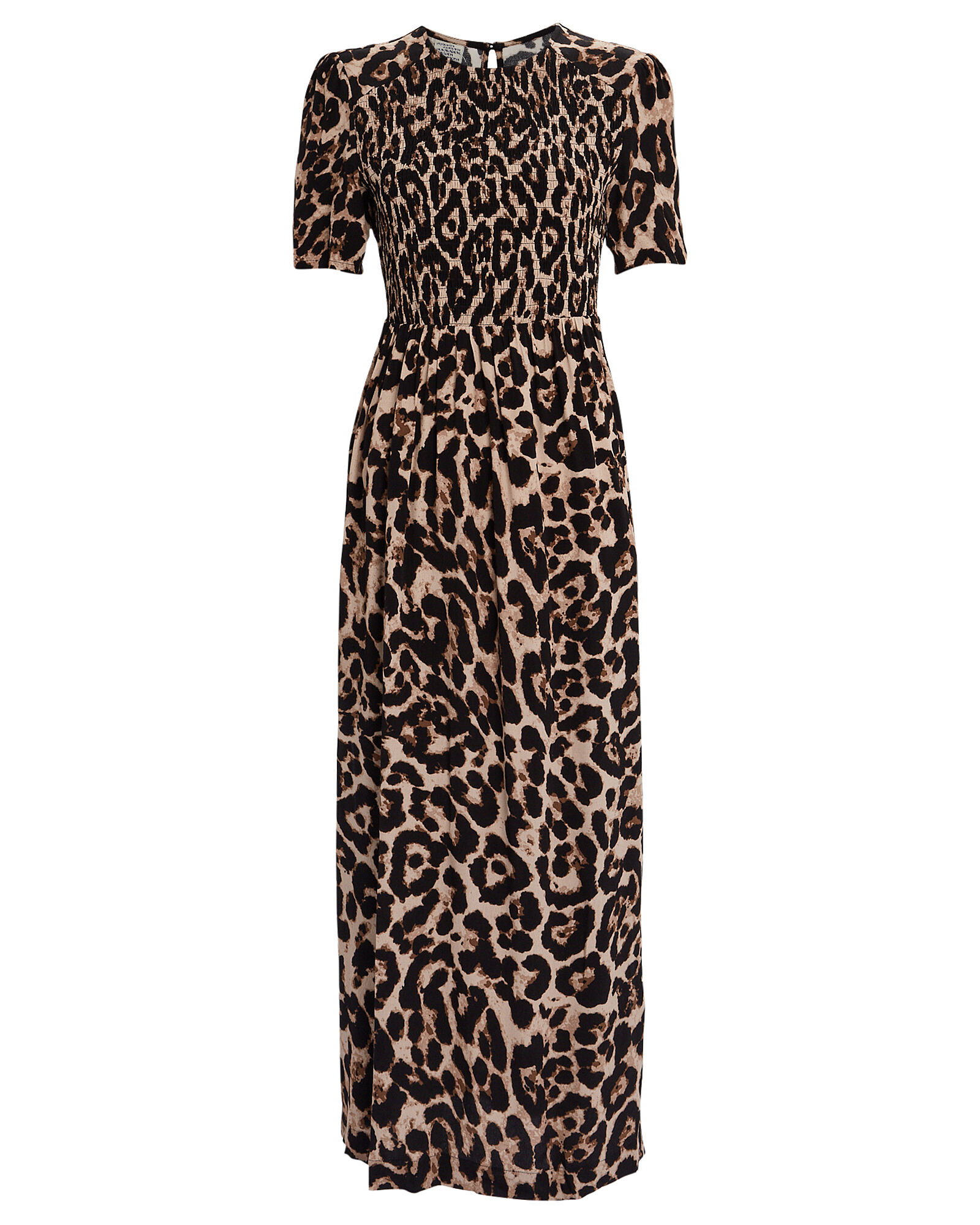 Adamaris Smocked Leopard Dress, MULTI, hi-res