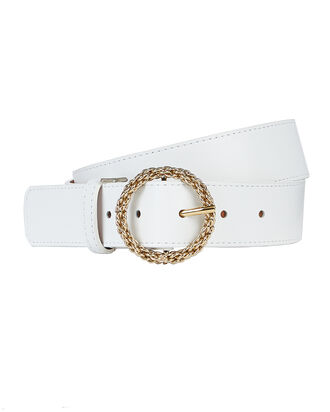 Nappa Leather Hip Belt, WHITE, hi-res