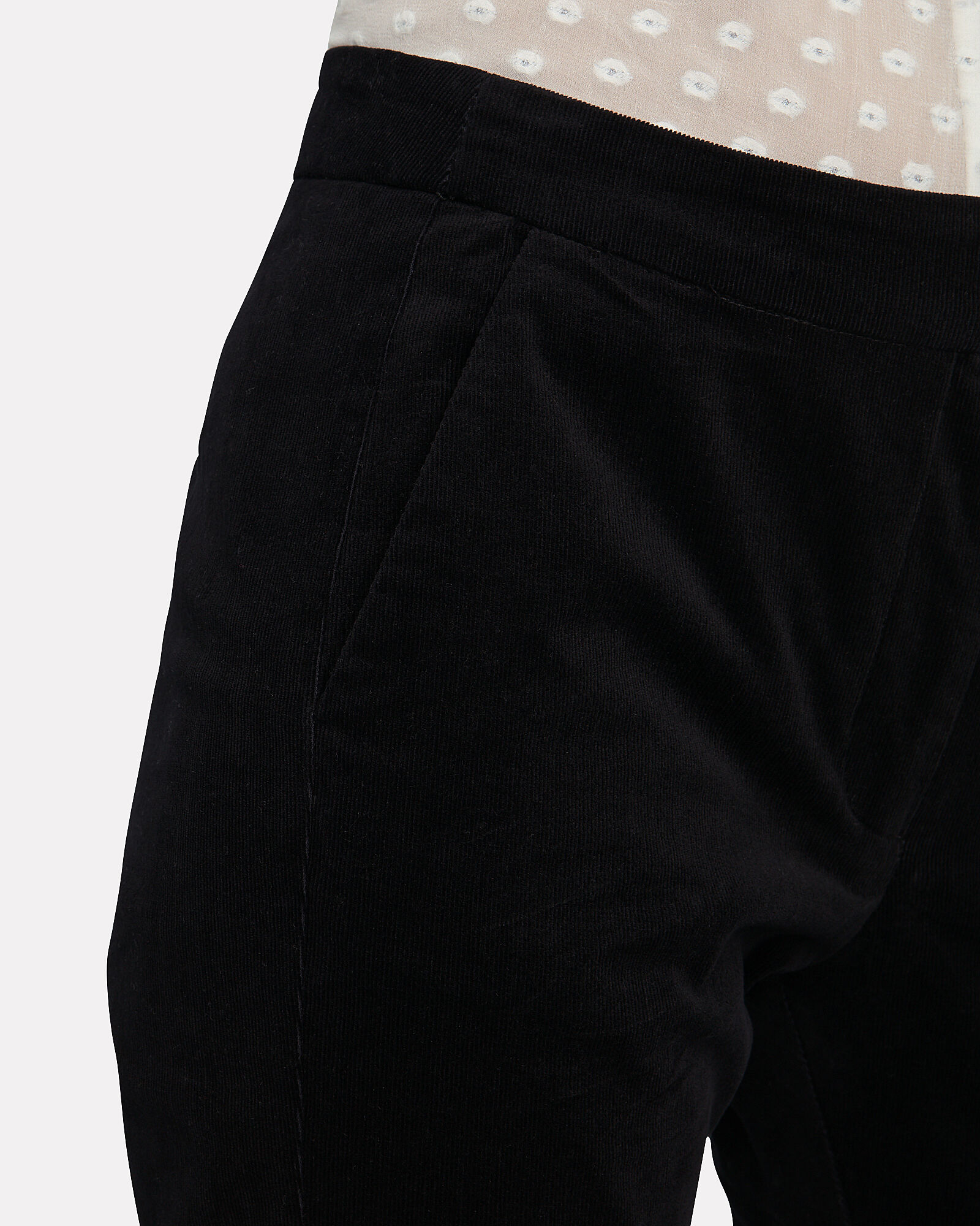 Jovie Flared Corduroy Pants, BLACK, hi-res