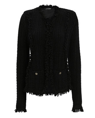 Ikaterina Black Knit Jacket, BLACK, hi-res
