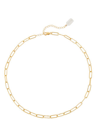 Chain-Link Choker Necklace, GOLD, hi-res