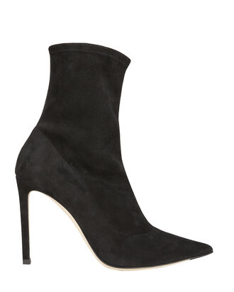 Brin Suede Sock Booties, BLACK, hi-res