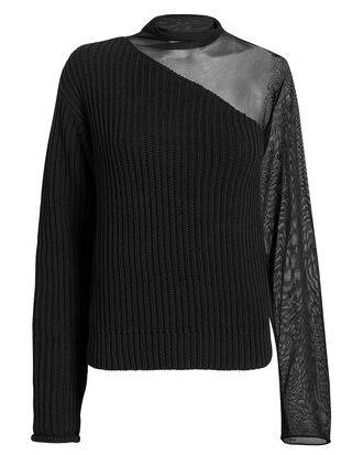 Franny Swish Black Sweater, BLACK, hi-res
