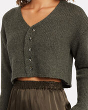 Bianco Cropped Cashmere Cardigan, TAUPE GREY, hi-res