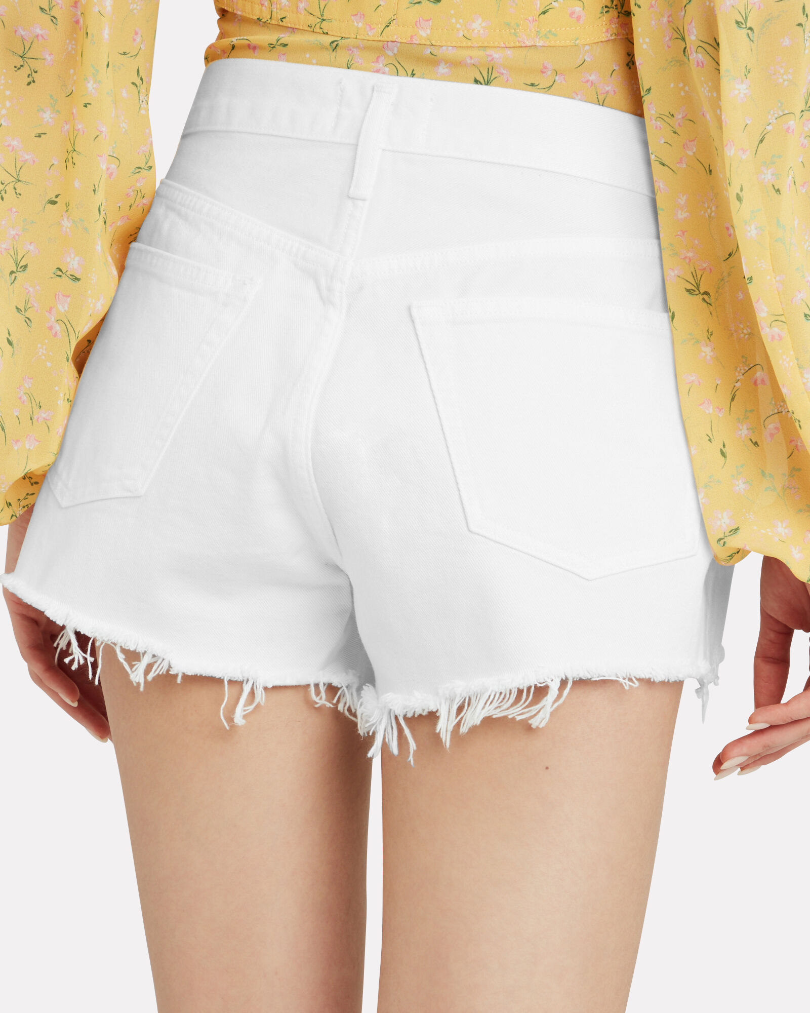 Parker Denim Shorts, WHITE, hi-res