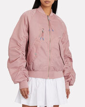 Esteban Ruched Bomber Jacket, PINK, hi-res