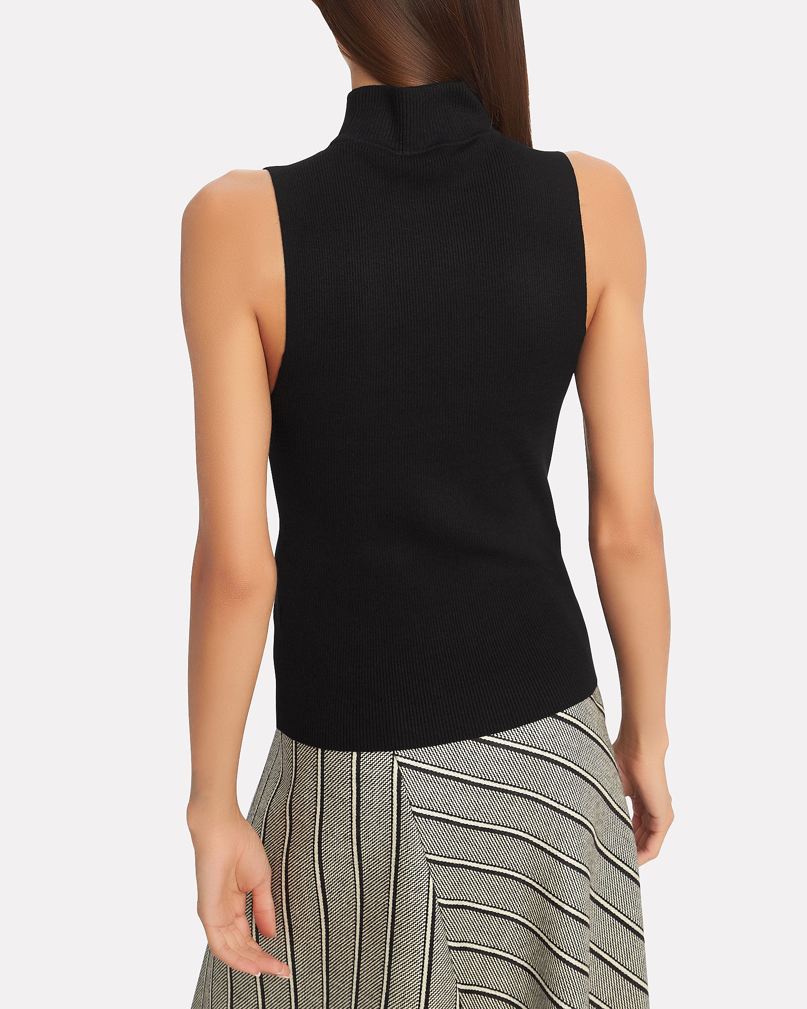 Colby Ribbed Knit Top, BLACK, hi-res