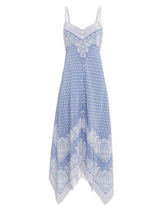 Isla Scarf Midi Dress, BLUE, hi-res