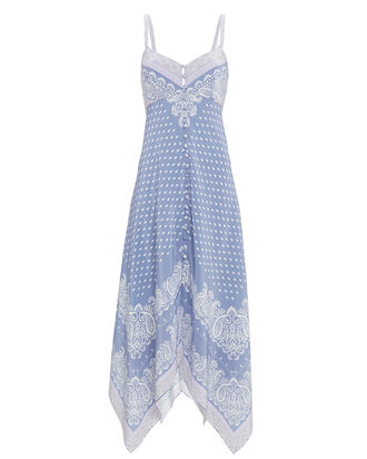 Isla Scarf Midi Dress, BLUE-MED, hi-res