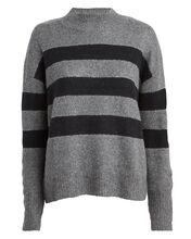 Ellise Striped Mock Neck Sweater, CHARCOAL/MIDNIGHT STRIPE, hi-res