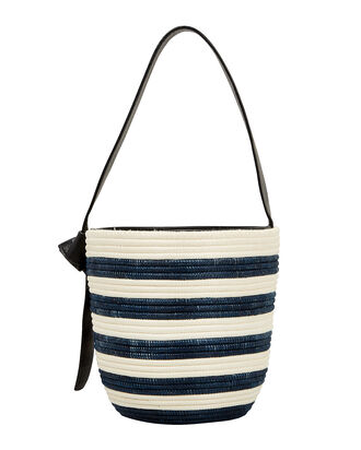 Breton Striped Bucket Bag, IVORY/NAVY/STRIPE, hi-res