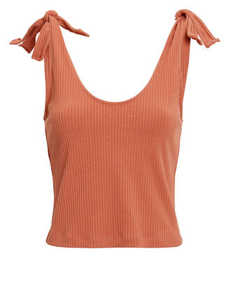 Maria Tie Shoulder Top, RUST, hi-res