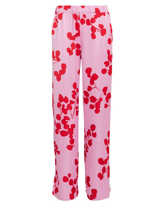 Norma Floral Crepe Pants, PINK/RED, hi-res