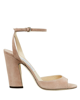 Miranda Blush Suede Sandals, PINK, hi-res