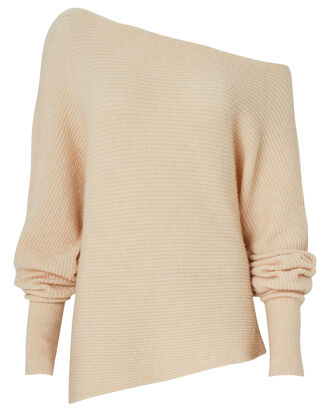 Virginia Off-The-Shoulder Sweater, BEIGE, hi-res