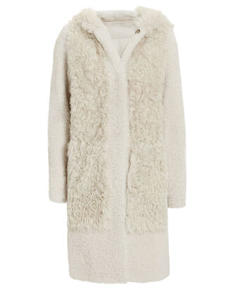 Textured Shearling Coat, GREY-LT, hi-res