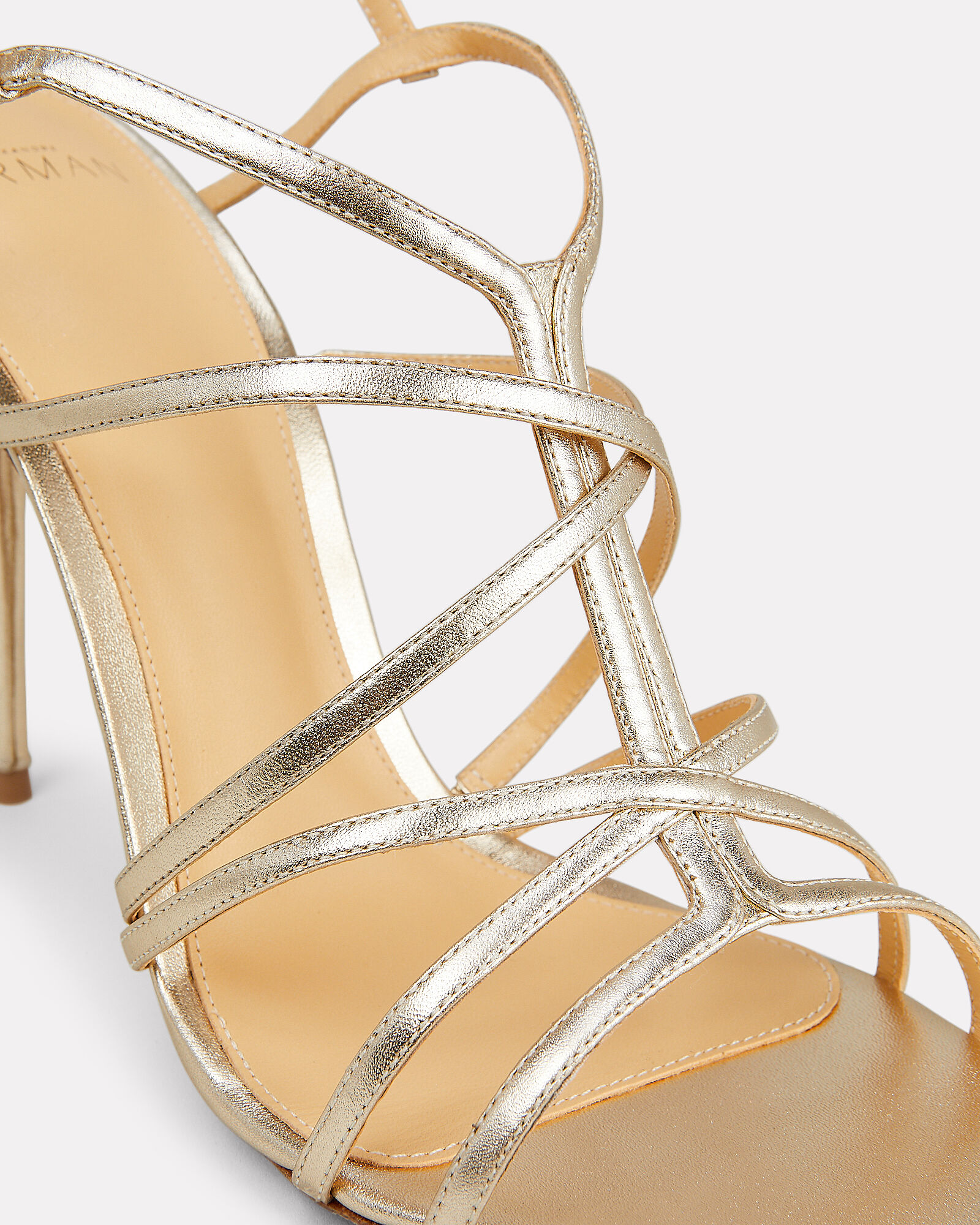 Emma 100 Leather Sandals, GOLD/METALLIC, hi-res