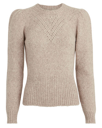 Veronique Alpaca-Wool Sweater, BEIGE, hi-res