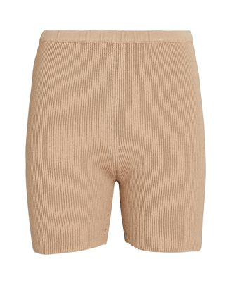 Dawn Cotton-Silk Bike Shorts, BEIGE, hi-res