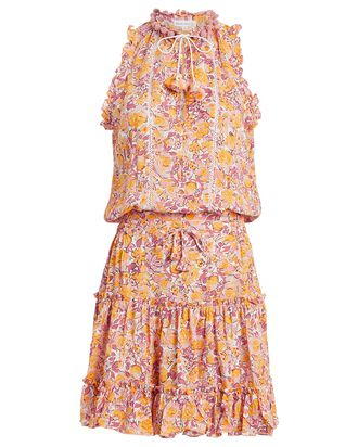 Clara Ruffled Floral Dress, PINK/MARIGOLD FLORAL, hi-res