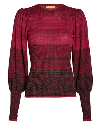 Dax Ombré Knit Sweater, FUSCHIA, hi-res