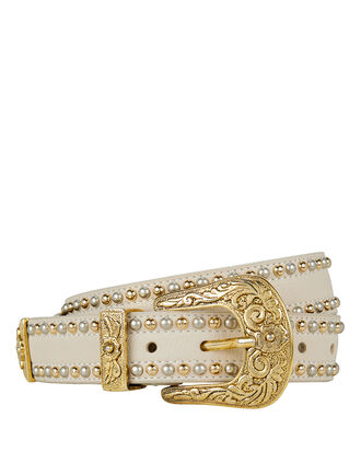 Leigh Studded Belt, IVORY, hi-res