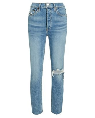 90s High-Rise Ankle Crop Jeans, DISTRESSED WORN BRIGHT, hi-res