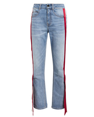 Carlton Side Panel Jeans, LIGHT WASH DENIM, hi-res
