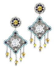Roland Clip-On Earrings, MULTI, hi-res
