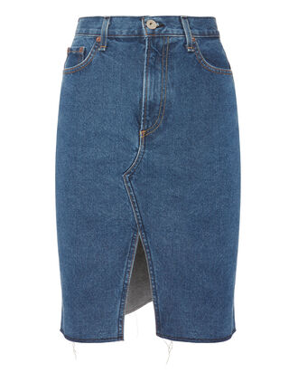 Suji Vintage Skirt, DENIM, hi-res