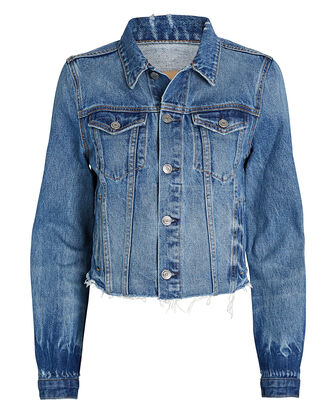 Cara Cropped Denim Jacket, , hi-res