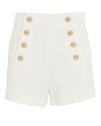 Sailor Button Shorts, WHITE, hi-res