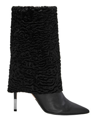 Babette Shearling Booties, BLACK, hi-res
