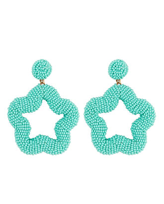 Deepa by Deepa Gurnani Britt Star Beaded Earrings, TURQUOISE, hi-res