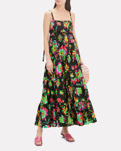 Bouncy Floral Dress, BLACK/FLORAL, hi-res