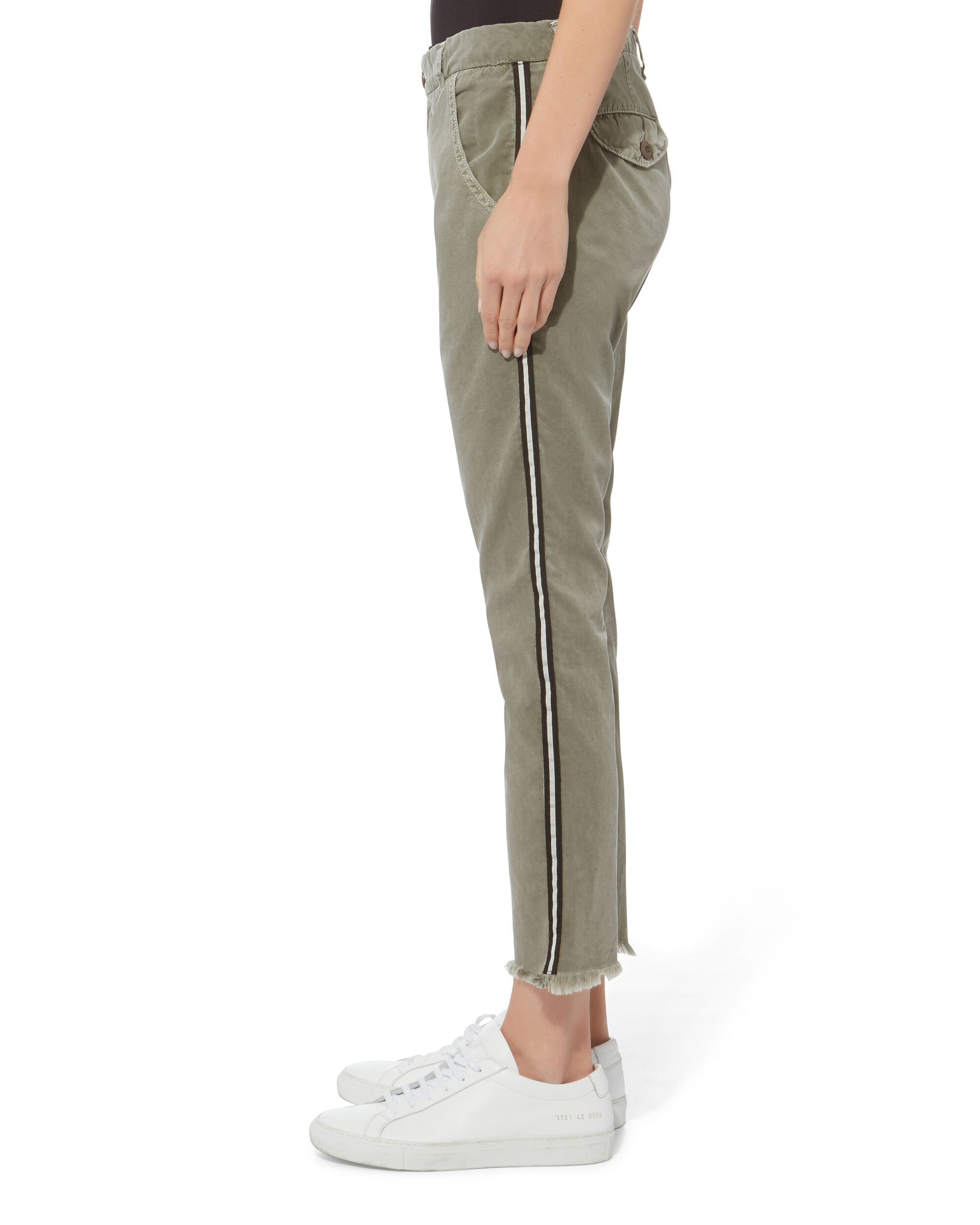 Side Tape Chino Pants, OLIVE/ARMY, hi-res