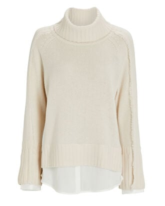 Jolie Layered Looker Turtleneck Sweater, IVORY, hi-res