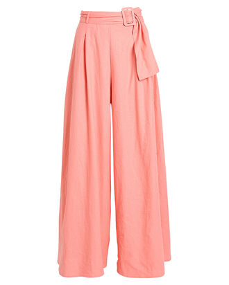 Leave It All Behind Wide-Leg Pants, SALMON, hi-res