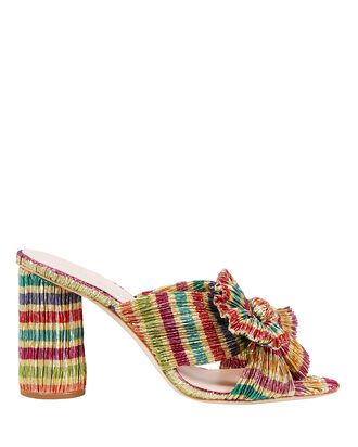 Penny Knot Strap Sandals, GOLD/STRIPES, hi-res