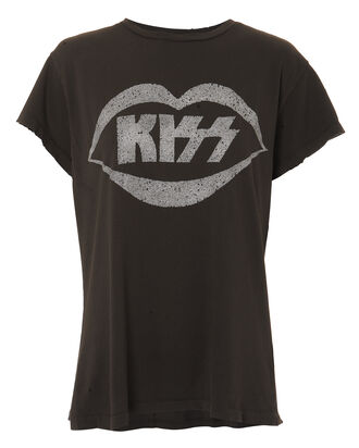 Kiss Glitter Graphic T-Shirt, BLACK, hi-res