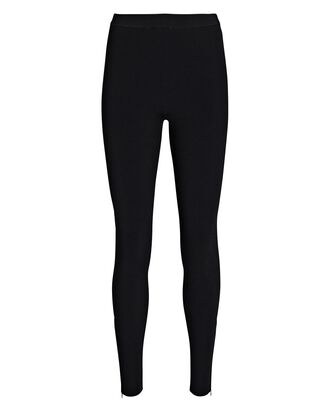 Gabriella Zip Cuff Leggings, BLACK, hi-res