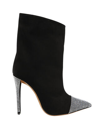 Christie Crystal Embellished Suede Booties, BLACK, hi-res