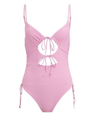 Tied Together One-Piece Swimsuit, PINK, hi-res