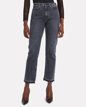 Rider Split Hem Straight Leg Jeans, GREY DENIM, hi-res