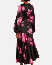 Helena Floral Satin Dress, MULTI, hi-res
