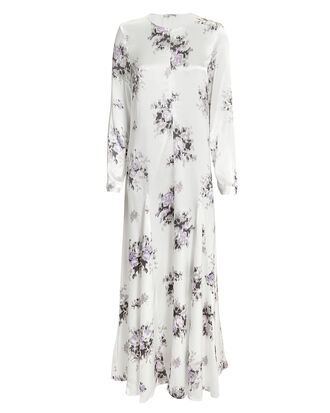 Cameron Floral Midi Dress, IVORY, hi-res