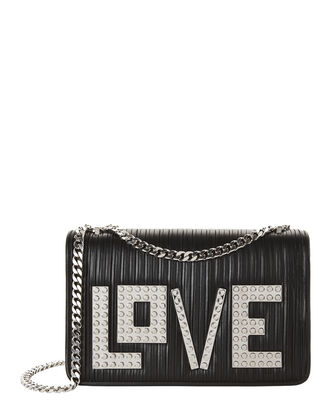 Janis Love Chain Shoulder Bag, BLACK, hi-res