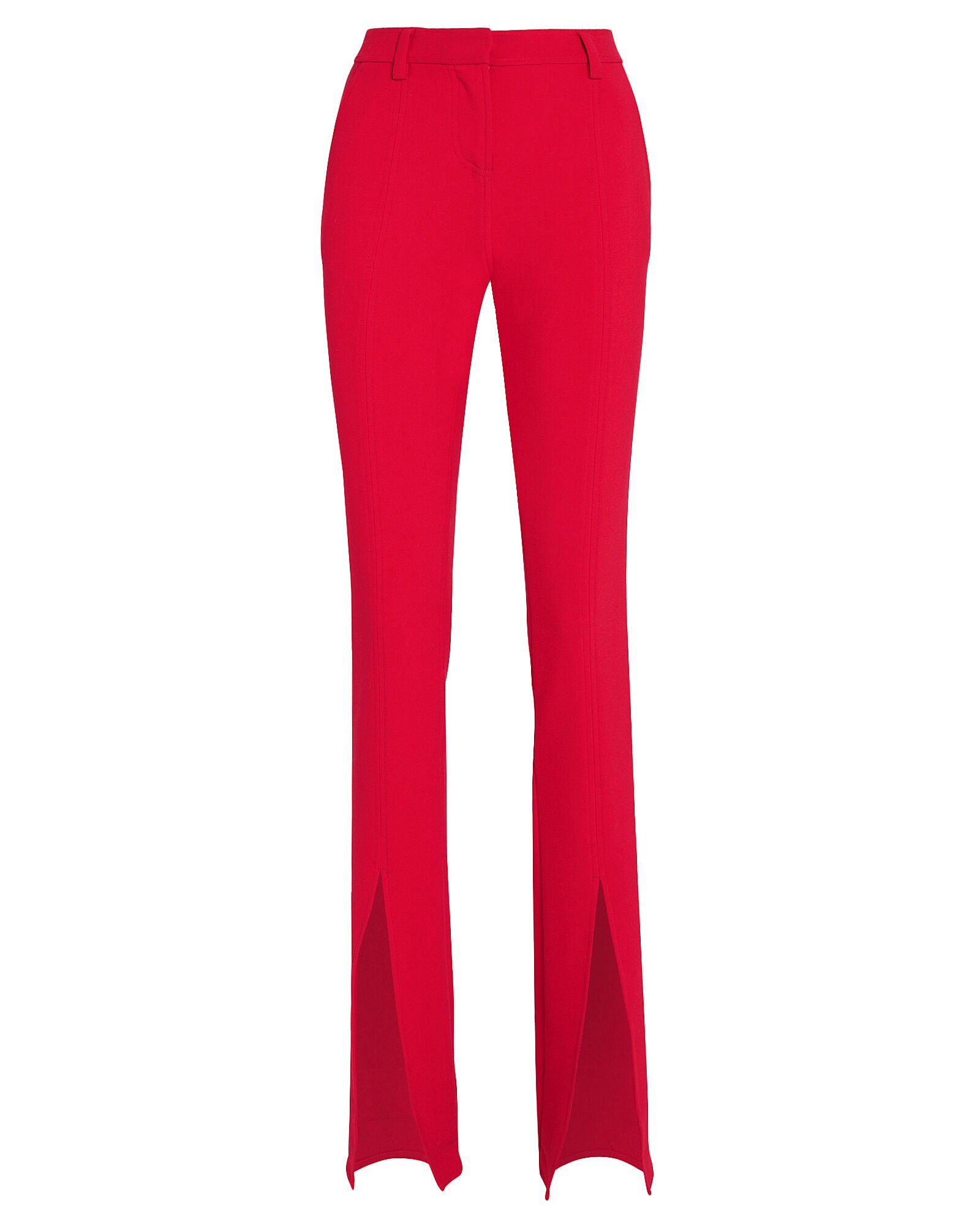 Conway Slim Stretch Trousers, RED, hi-res